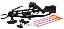 160 Lb 235 FPS Hunting / Target Crossbow Red Dot Sight & Arrows