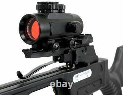160lbs Hunting Crossbow Red Dot Sight Black- Arrows Quiver Rope Cocking 235FPS