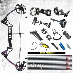 19-30 Length 19-70Lbs 320fps IBO Compound Bow Archery Set for Outdoor Hunting
