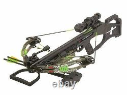 2021 PSE Coalition Frontier Compound Hunting Crossbow 380FPS Cocking Rope Quiver