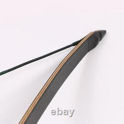 20/30lbs Archery Traditional Recurve Bow Longbow Wooden Riser Right Hand Hunting
