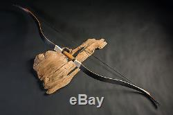 20-50lbs Black Tartar Recurve Bow Laminated Bow for Outdoor Sport Hunting