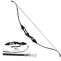 30-50lb Takedown Archery Recurve Bow Longbow Set for Adult Hunting Sport