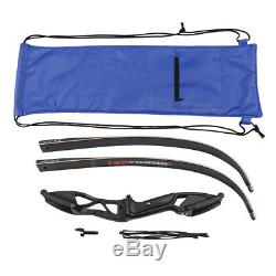 30-50lbs 56 Archery Recurve Bow Hunting Target Right Hand with Takedown Bow Bag