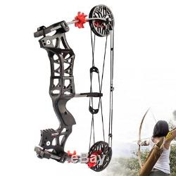 30-60LBS Archery Compound Bow Catapult Dual-use Steel Ball Hunting M109E Black