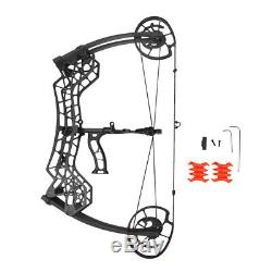 30-60Lbs 310FPS Archery Compound Bow Dual-use Catapult Steel Ball Hunting Target