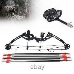 30-60lbs Pro Compound Right Hand Bow Arrow Kit Archery Target Practice Hunting