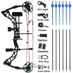 30-70lbs Archery Compound Bow Kit Hunting Shooting Target Adjustable Outdoor