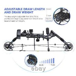 30-70lbs Pro Compound Right Hand Bow Arrow Kit Archery Arrow Target Hunting Set