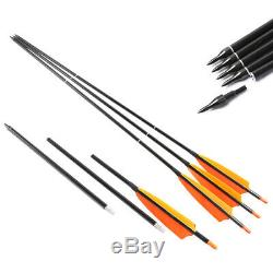 3-Take-Down Spine 500 Carbon Arrows for Use with The Pocket Bow Archery Hunting