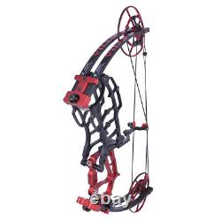 40-70lbs Compound Bow Short Axis Triangular Bow Portable Hunting Let Off 80% NEW