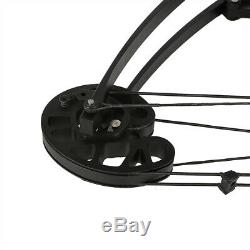 50lbs Black Archery Triangle Compound Bow Hunting Right Left Hand Fishing Bear