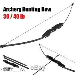 54 30/40 lbs Archery Hunting Recurve Bow Shooting Longbow Takedown Right Handed