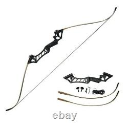 60LB Archery Recurve Bow Longbow Adults Takedown Hunting Target Practice