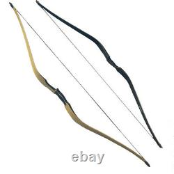 60 Archery Traditional Longbow Laminated Recurve Bow 20-50lbs Horsebow Hunting