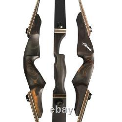 60 Takedown Recurve Bow Arrows Kit 25-60lbs Archery Wooden American Hunting Bow