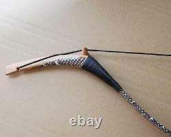 60lb Traditional Handmade Recurve Bow Longbow Natural Snakeskin Horsebow Hunting