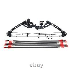 60lbs Compound Bow Recurve Bow and Arrows Set Hunting Right/Left Hand 34Longbow