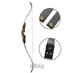 62 Archery American Hunting Bow Takedown Recurve Bow Wooden 20-50lbs