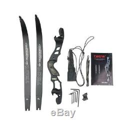 62 Archery Takedown Recurve Bow 3055lb ILF Right Hand Hunting Shooting Target