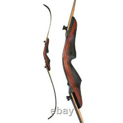 62 Archery Takedown Recurve Bow Arrow Rest 30-50lbs Wooden American Hunting