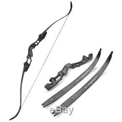 63 Archery ILF Takedown 30-55lbs Recurve Bow America Longbow IBO 210FPS Hunting