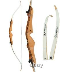68 Archery Takedown Recurve Bow Wooden 18-38lbs Carbon Arrows Target Hunting