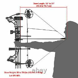 Adults 70 Lbs Pro Compound Shooting Bow Equipment Right Hand Practice Hunting
