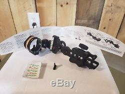 Apex Gear Covert Single Pin adjustable Archery Sight. Bow hunting
