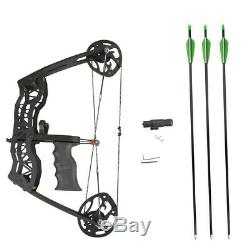 Archery 16 Mini Compound Bow Set 35lbs Right Left Hand Laser Sight Arrows Hunt