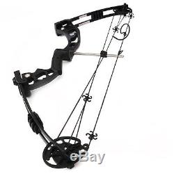 Archery 30-60Lbs Black Compound Bow Adult Right Hand Target Hunting 24-29 draw
