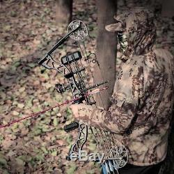 Archery 45-70lbs Black Adult Compound Bow Set Right Hand Hunting Target Shooting