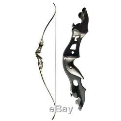 Archery 58in Recurve Bow 20-55lbs Takedown Longbow Mongolian Hunting Right Hand