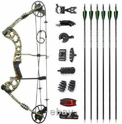 Archery Compound Bow 30-70lbs Carbon Arrow Set Aluminum Outdoor Hunting Shooting