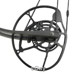 Archery Compound Bow Short Axis Adjustable 350FPS Hunting Fishing Let off 90%