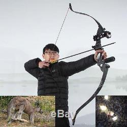 Archery Hunting Takedown Recurve Bow Alloy Riser Longbow Target Competition 40LB