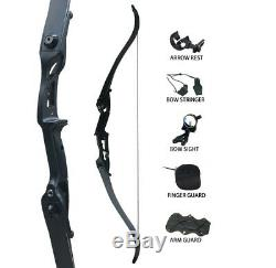 Archery Recurve Takedown Bows Set 50lbs Hunting Target 56 Outdoor Practice Kit