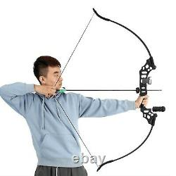 Archery Takedown Recurve Bow and Arrow Set for Adults Practice Hunting Long B