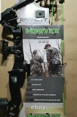 Barnett Outdoors Youth Vortex Compound Bow 19-45 lbs Archery Hunting Right Hand