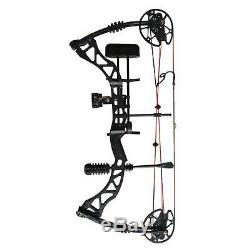 Black Archery Compound Bow Right Hand Hunting Kit Adult Shooting Target 35-70lbs