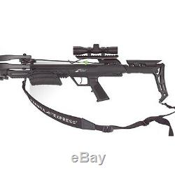 Carbon Express Blade X-Force Crossbow and Ready-to-Hunt Kit with 3 Quivers, Black