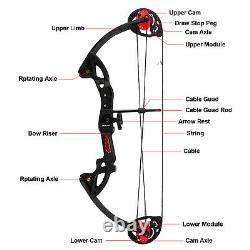 Compound Bow 15-29 lbs Right Hand Hunting Archery Target with Max Speed 260fps