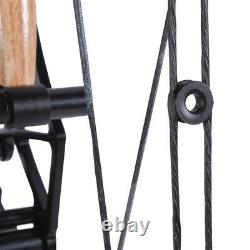 Compound Bow 35-65lbs Steel Ball Short Axis Let Off 80% Archery RH LH Hunting