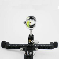 Compound Bow Sight Hunting Bow Sight Single Pin0.019'' Adjustable Black Accurate