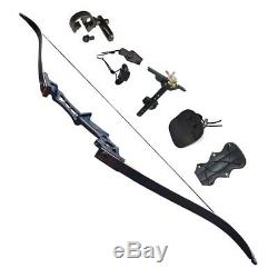 D&Q 70Lbs Archery Recurve Bow kit Take Down Hunting Bows set Right Hand Longbow