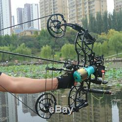 Dual-use Compound Bow Archery Hunting Catapult Fishing Steel Ball Slingshot 1PC