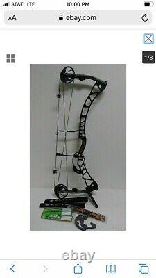 Elite Synergy Archery Bow Compound LH Hunting Camo Black Limbs Strings Modules