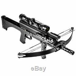 Hybrid Crossbow 80 lbs 160 fps Hunting Package Flashlight Laser Bean Scope Set