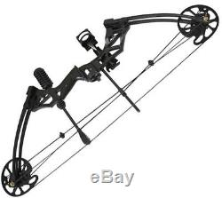 IRQ 30-75lbs Black Compound Bow Right Hand For Archery Hunting Target