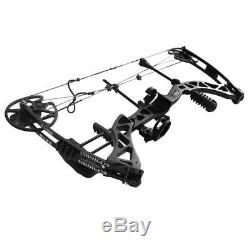 IRQ ARCHERY 45-70LBS BLACK COMPOUND BOW Kit HUNTING TARGET US LIMBS Right Handed